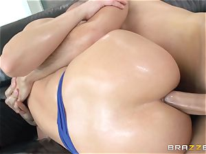 harsh ass-fuck with greased up dame Anikka Albrite