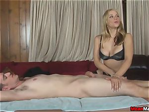 client Shocks To see The beautiful ash-blonde masseuse