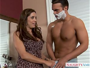 busty Francesca Le gives blowage and gets backside poked