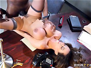 horny office joy with Ariella Ferrera