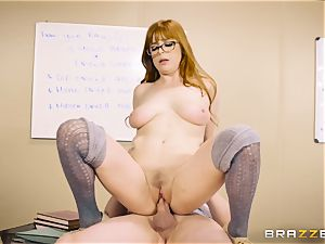 Classroom jizz action with kinky ginger-haired teacher Penny Pax