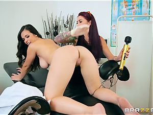 Monique Alexander and Nekane minge munch at the health center
