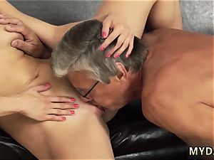 dad luvs his comrade pal s daughter-in-law and 3 dimensional elderly fellow fuck-fest with her boycompeer´s