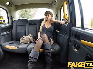 fake taxi huge-titted blondie mummy Amber Jayne deep-throats and pulverizes