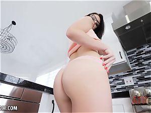 nubile with big udders uses her fucktoy