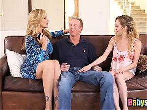 lil' Angel Smalls shares thick lollipop with Julia Ann
