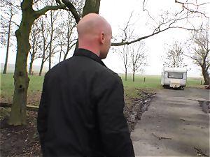 Deutschland Report - bodacious German beginner penetrates outdoors