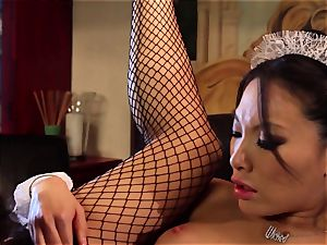 muddy Maid Asa Akira analled by the manager