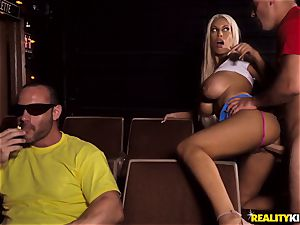 Cinema weenie blowing big-titted Bridgette B