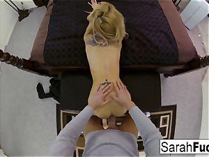 huge-titted pornstar Sarah screws