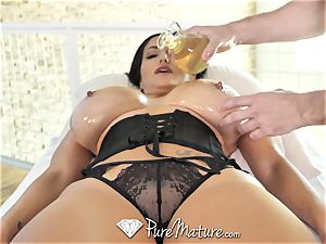 PureMature lubricated up massage smash with milf Ava Addams