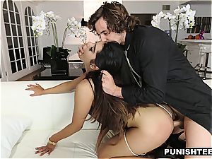 young Latina secretary disciplined by her rich boss