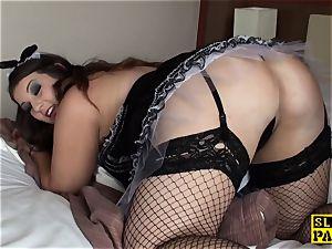 round british maid Lucy pussyfucked