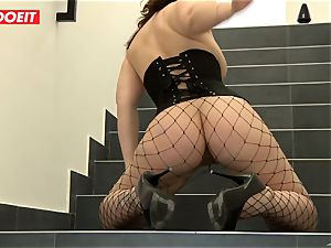 LETSDOEIT - dark haired Thot double penetrated xxx By greatest pals