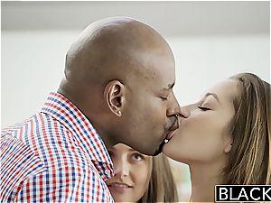 BLACKED girlfriends Dani Daniels and Allie Haze multiracial threesome