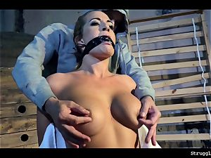 Nicole Vice chair-tied mouth-stuffed undressed vibed