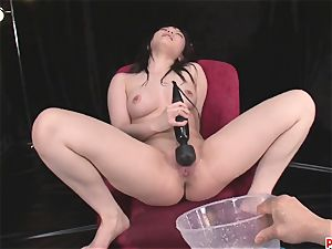 Hina Maeda wanks And Has trio studs spunk For Her