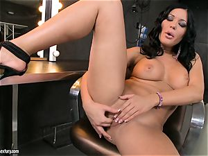 super-hot superslut Angelica Heart attempts her fingers deep in her super-fucking-hot bum and loved it