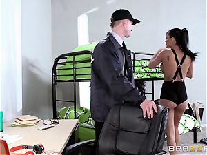college babe Peta Jensen makes sure she lingers in school