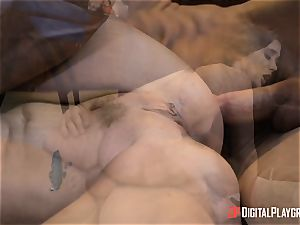 insatiable brown-haired Gia Paige takes it deep up her cunny