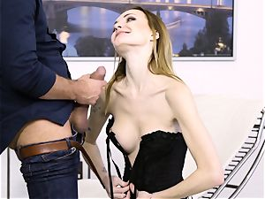 naughty Belle Claire smashed ball-sac deep