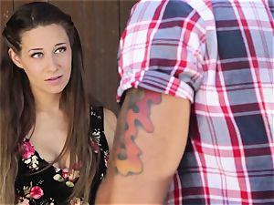 Cassidy Klein gives her stud a goodbye pummeling