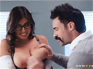 stuffing that massive man sausage into Ella Knox in class